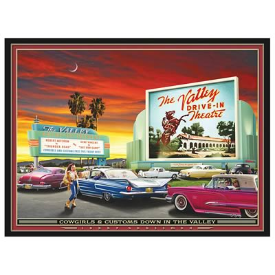 drive-in movie theater art
