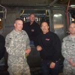 Greg Anderson with members of the 238th Medevac team.