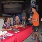 Eddie Krawiec (left) and Andrew Hines at the 380th Air Expeditionary Wing's autograph session on Wednesday.