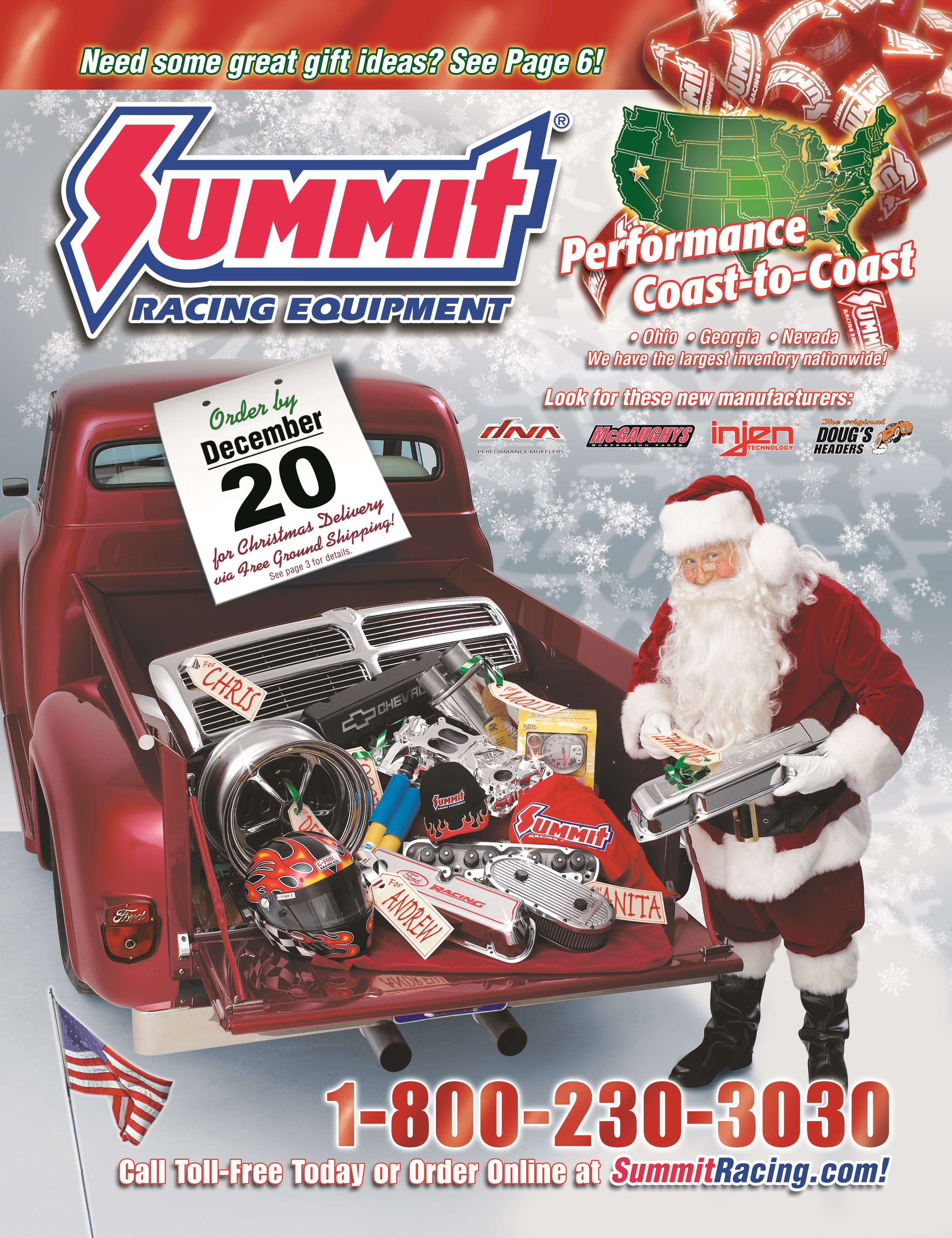 The free catalog at Summit Racing gives you the choices many other car parts retailers do not have. If there's a performance auto part for your car, chances are you can find it in Summit Racing's catalog.