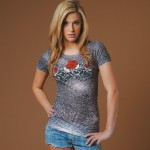 barbed wire rose shirt