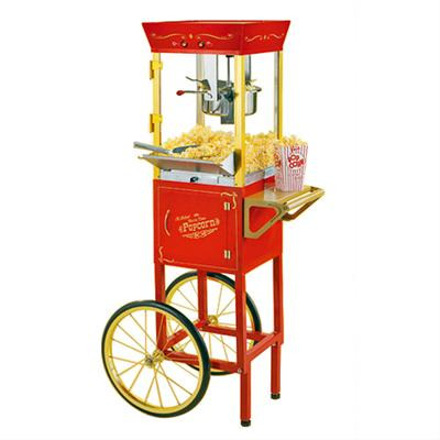 retro popcorn maker cart