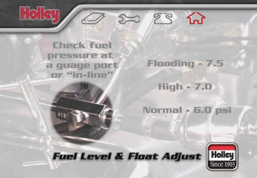 How to Adjust the Fuel Level and Floats on a Holley Four-Barrel