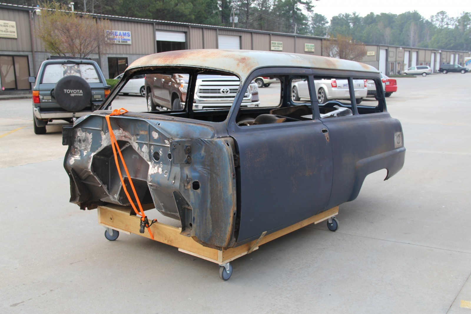 Rutledge Wood Plymouth Wagon Update Engine Fitting And