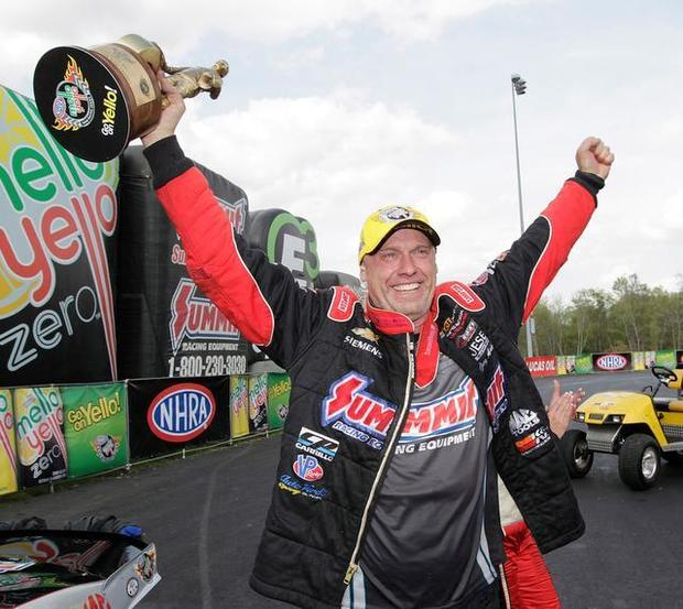 Pro Stock driver Jimmy Alund became the first European to win an NHRA event April 13. His success subbing for Greg Anderson earned him Summit Racing sponsorship overseas. Image courtesy of BND.com