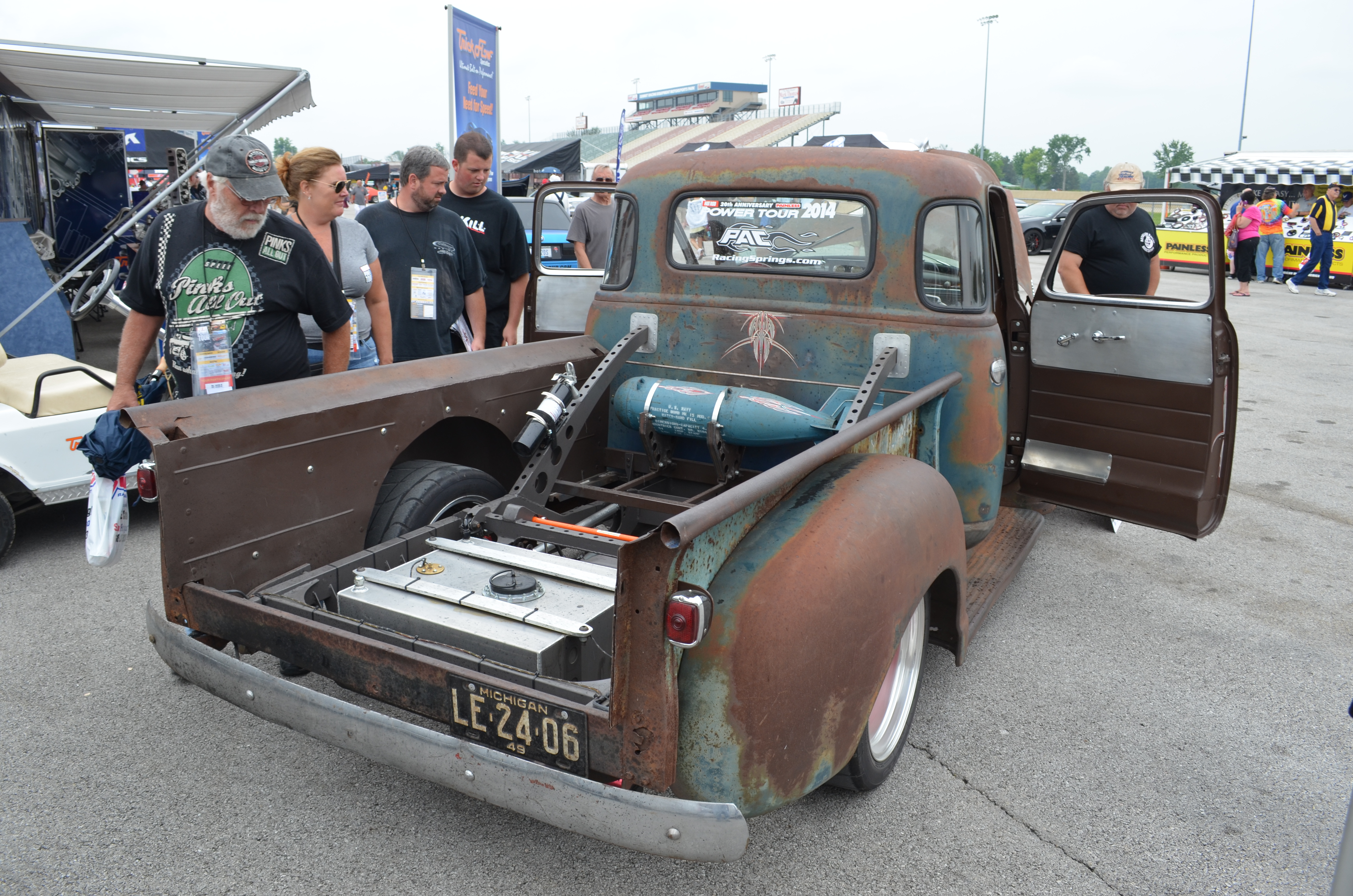 The 10 Most Unique 2014 Hot Rod Power Tour Rides Onallcylinders 1948 Ford Pickup Project Condor 1949 Chevy 3100 5 Window