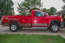 We picked up our Chevy Silverado 2500HD for good price since it has a 6.0L gas engine and is a regular cab.  It just needed a boost in height to make room for some larger tires to set it apart from the crowd.