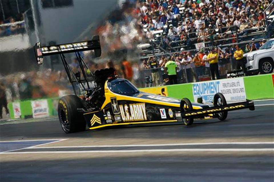 Tony Schumacher won two Top Fuel events in 24 hours. Image courtesy of NHRA