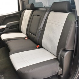 The complete install adds a custom two-tone appearance to the Silverado and provides a comfortable, yet very protective layer that is custom fitted to the vehicle, and delivered to your door with the fastest delivery time in the industry.