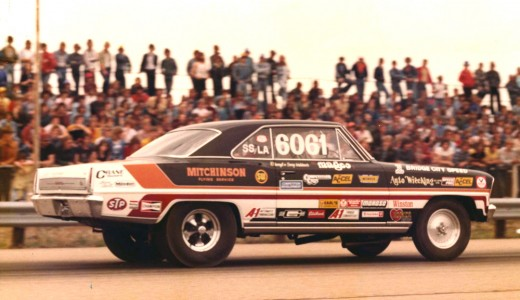 """This is Gary Waldner's Chevy II. It was a 283 4-bbl, Powerglide combination, exceptionally clean and fast.  """"Waldo"""" was an absolutely great racer who constantly tested and flogged hardware. He was always at the track doing """"A-B-A"""" parts tests (baseline, swap in the new part, back to the baseline)."""
