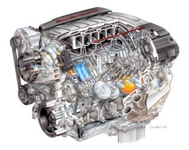 Gen. V LT-1 engine (image courtesy of General Motors).