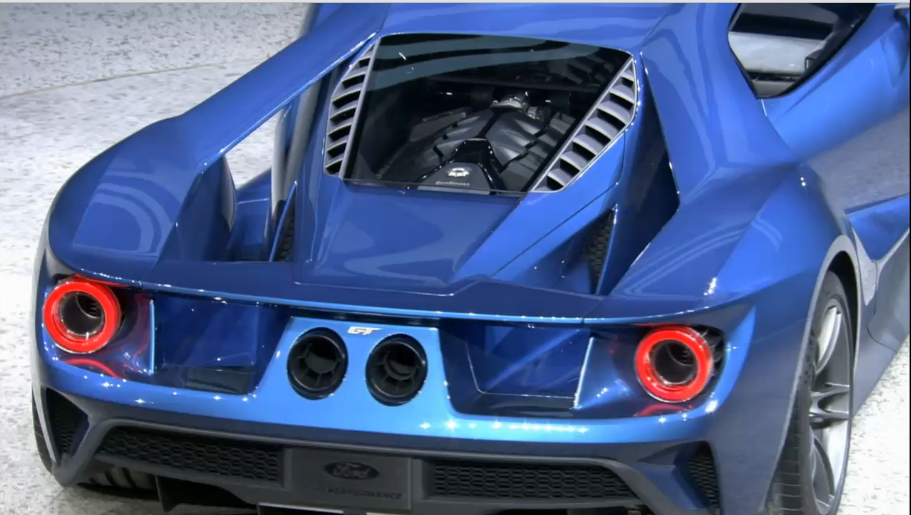 ford unveils 600 hp twin turbo ecoboost v6 gt supercar at detroit auto show - Ford Gt 2016 Engine
