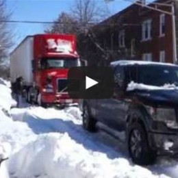Video: Watch a Ford F-150 Tow a Stuck Semi from the Snow!