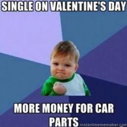 single on valentine's day meme