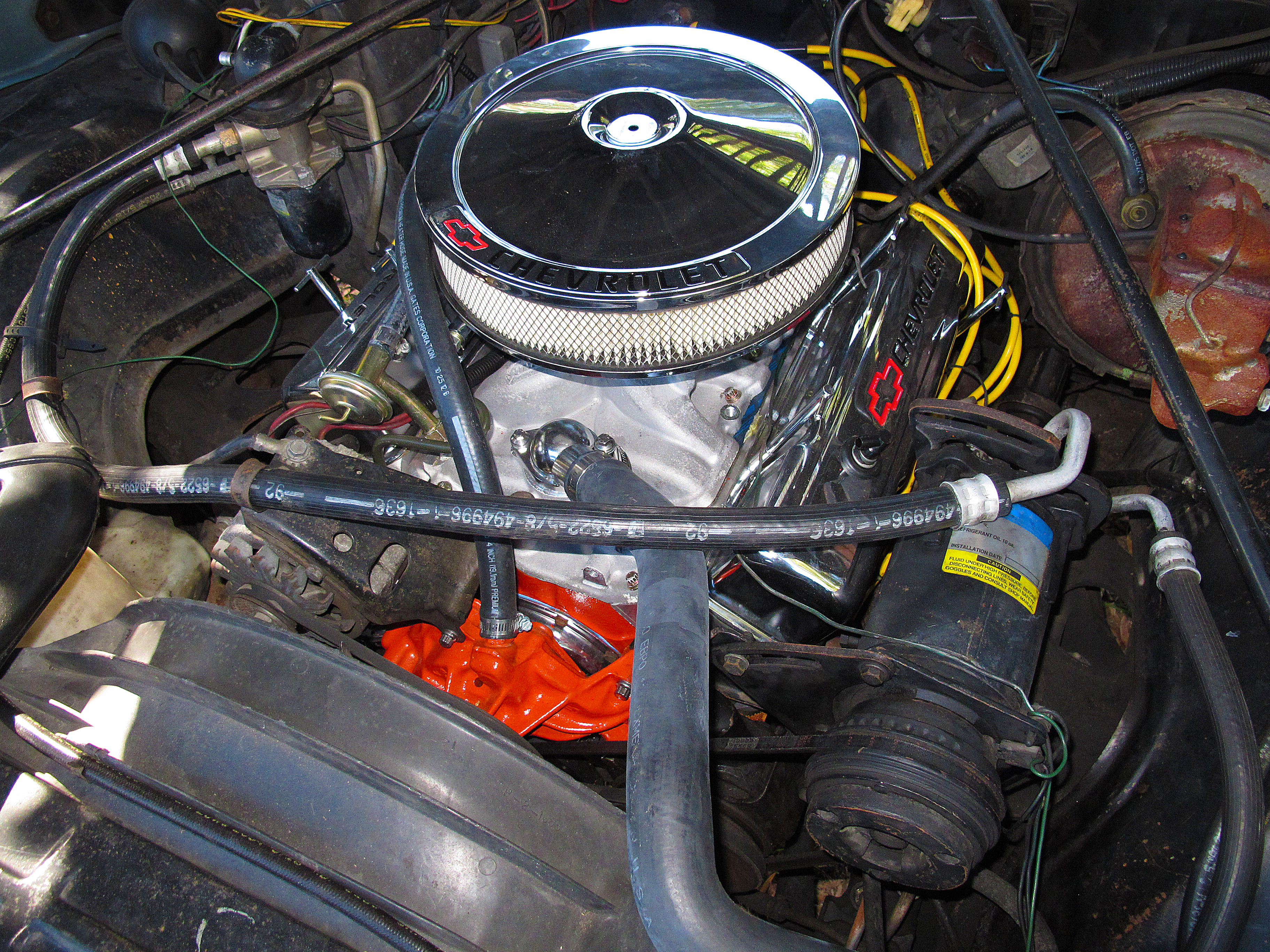 Chevrolet Zz6 Small Block V8 Crate Engine Priced At 7125 additionally 1963 1967 C2 Replacement Chassis moreover Mountain Of Torque Remembering The Short Lived Big Block Chevrolet Avalanche likewise Narrow Bay Street Rod Brackets also Drawings exploded views. on chevy 350 accessory drive …