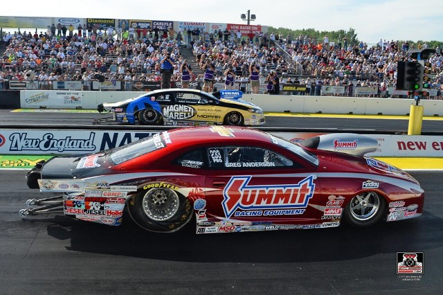 Summit Racing Pro Stock driver Greg Anderson beat Allen Johnson in the final round for his second consecutive NHRA win.