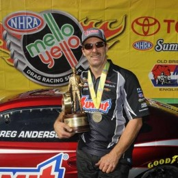 Greg Anderson won the 76th race of his career Sunday at Englishtown.