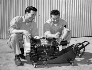 Don and Bob Spar in the 1950s. Image courtesy of Car Craft and SEMA archives.