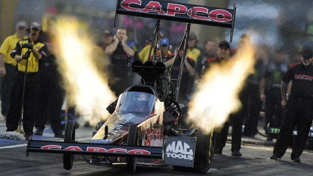 NHRA's Steve Torrence won Top Fuel Sunday for the first time since 2013. (Image/Fox Sports)