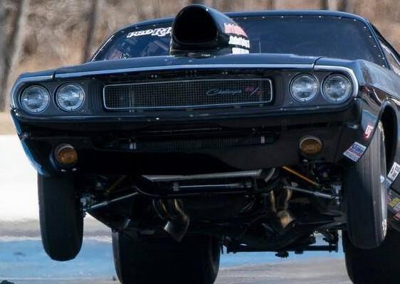 1970 Dodge Challenger Wheelie