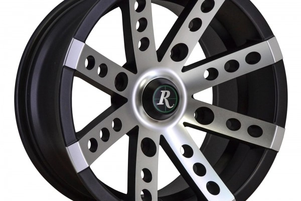 Remington Wheels Buckshot Series Satin Black with Machined Face Trailer Wheels