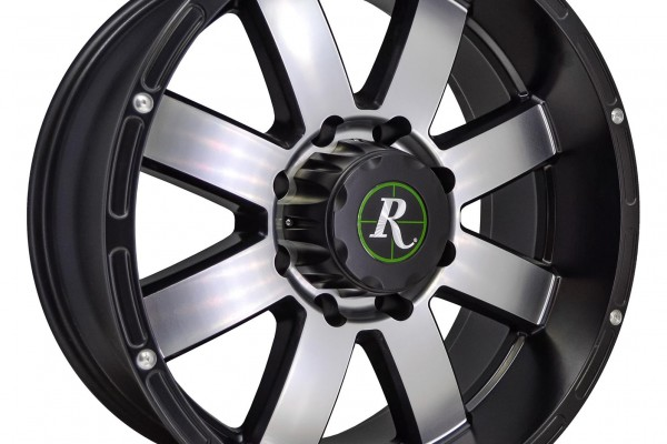 Remington Wheels 8-Point Series Satin Black with Machined Face Wheels