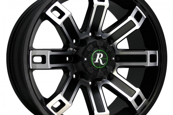 Remington Wheels Hollow-Point Series Satin Black with Machined Face Wheels