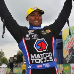 Antron Brown's Top Fuel win Sunday moves him closer to another NHRA championship with four races to go. (Image/NHRA)