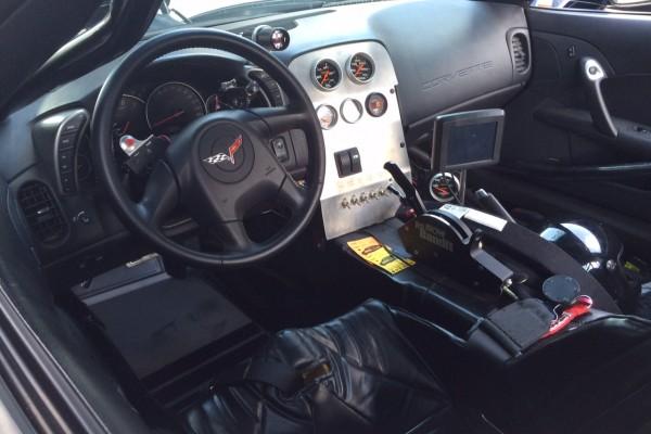 Griswold Corvette race car interior
