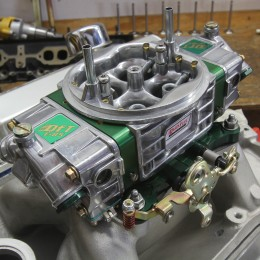 This is a Quick Fuel E85 carburetor we've used on several occasions that has worked like a champ. If the carb will be stored for any length of time, it would be best to run a mixture of regular pump gasoline through the carburetor to prevent corrosion.