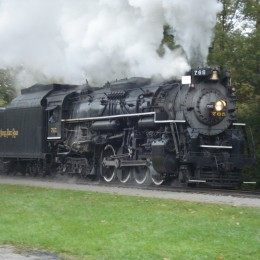 #765 boasted a top speed of 70 miles-per-hour, which put it close to the pinnacle of steam engine performance.