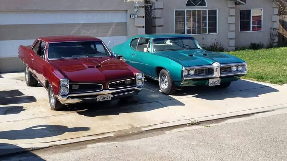 1966 Pontiac GTO and 1968 LeMans