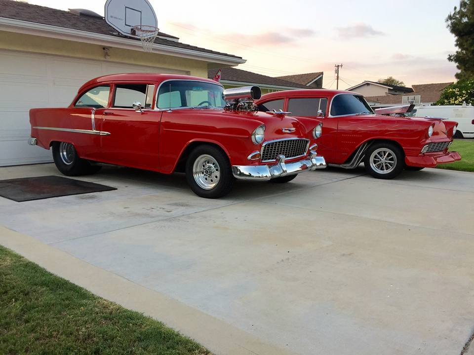 1955 Chevy and 1956 Chevy 210