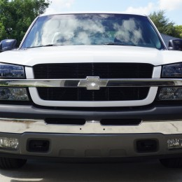 Our Silverado project is looking big and proud with its new lighting and upgraded front grille.