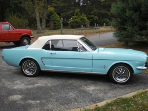 64 1-2 mustang peppermint green white top