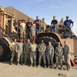 With a few of the awesome men and women from the ELRS in front of their equivalent of a monster truck, the 50k container-mover.