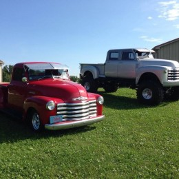 1953 Chevy and 1952 Cummins Chevy