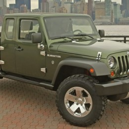 This is the Jeep Gladiator concept the automaker introduced in 2005. The new Jeep pickup confirmed for a late-2017 release will be based on the Jeep Wrangler platform and built at the Jeep plant in Toledo, OH.