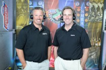 Mike Dunn (right), a former NHRA driver and TV analyst, is the new president of the IHRA. (Image/ESPN)
