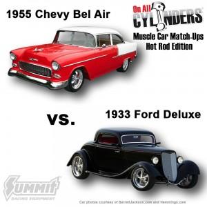 1955-Bel-Air-vs-1933-Ford