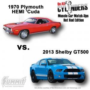 1970-Cuda-vs-2013-GT500