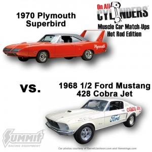1970-superbird-vs-1968-Cobra-Jet