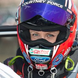 courtney force in helmet
