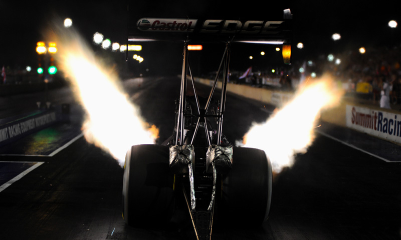 Brittany Force launches at Summit Motorsports Park's Night Under Fire (Image/nationalspeedsportnews.com)