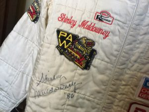 Shirley Muldowney racing suit
