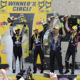 NHRA Wrap-Up: Greg Anderson Makes it 13 Straight Wins for Team Summit, Ties Record; Brown, Beckman & Hines Win Too