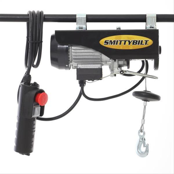 This Smittybilt electric hoist is actually used for removing Jeep hardtops.