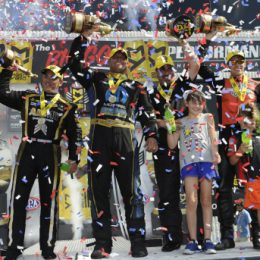 2016 US Nationals winners circle NHRA