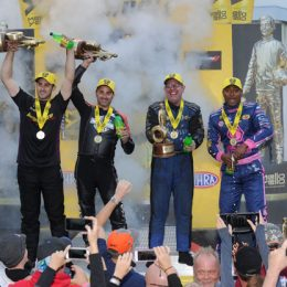 NHRA Reading winners circle Dodge Nationals 2016