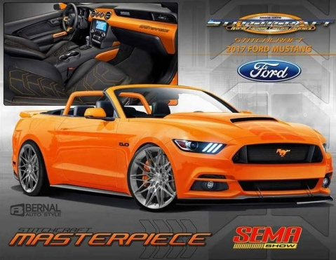 this pearl candy orange 2017 mustang concept will deliver a combination of great handling and performance along with an exotic look and feel that infuse